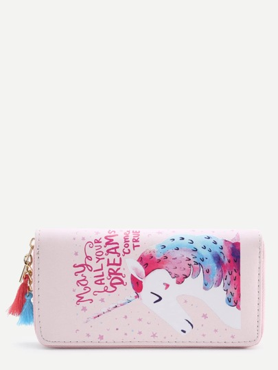 Cartoon Pattern PU Wallet