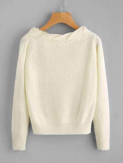 Twist Neck Sweater