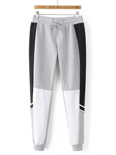 Pantalones deportivos de color combinado