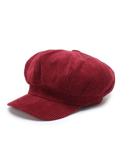 Gorra elástica de pana