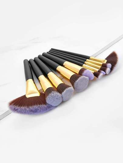 Two Tone Makeup Brush 10pcs