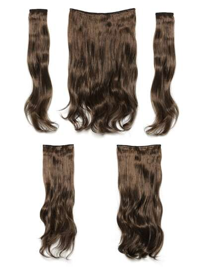 Dark Brown & Caramel Clip In Soft Wave Hair Extension 5pcs
