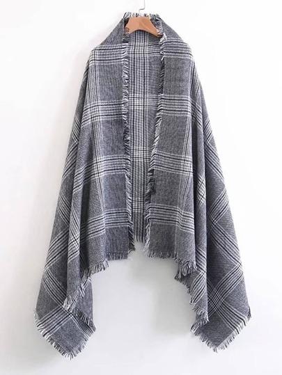 Écharpe à carreaux avec des franges