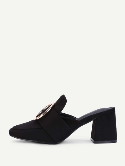 Ring Detail High Heeled Mules