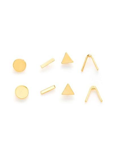 Ensemble de boucles d\'oreille géométrique