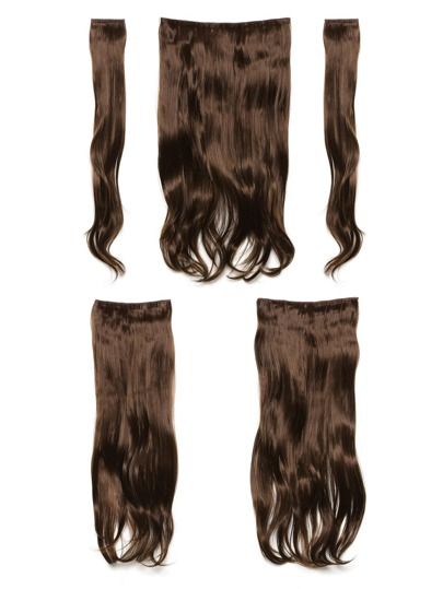 Chestnut Clip In Soft Wave Hair Extension 5pcs