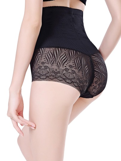 Lace Insert Shapewear Shorts