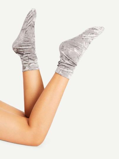 Calcetines tobilleros de terciopelo