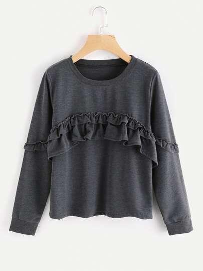 Sweatshirt mit Falten