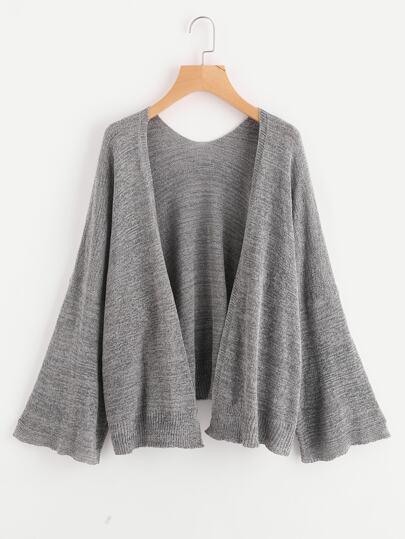 Cardigan tricoté avec manche cloche