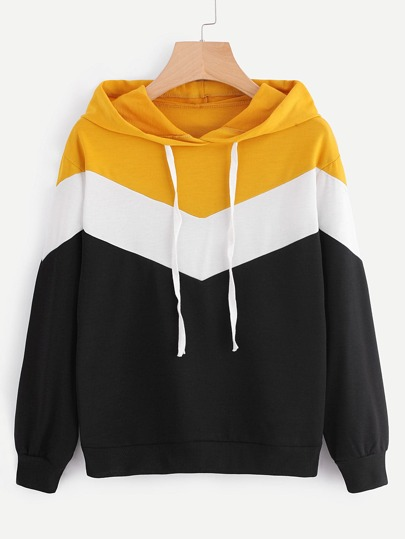 Hooded Cut And Sew Sweatshirt
