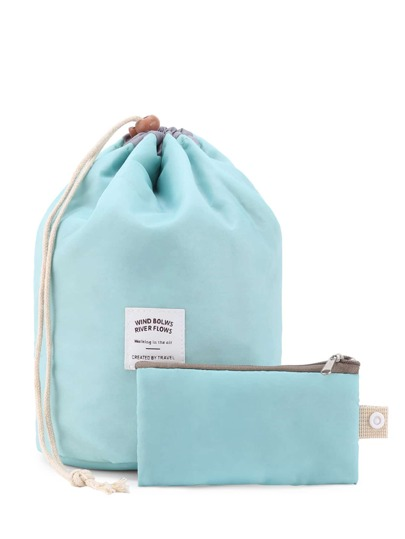 Bucket Makeup Bag With Pouch