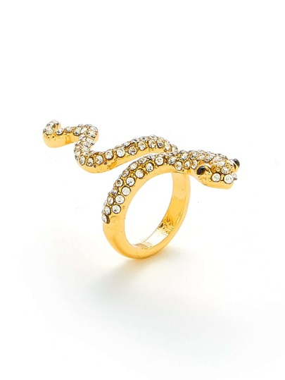 Rhinestone Snake Design Ring