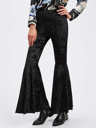 Crushed Velvet Flared Pants