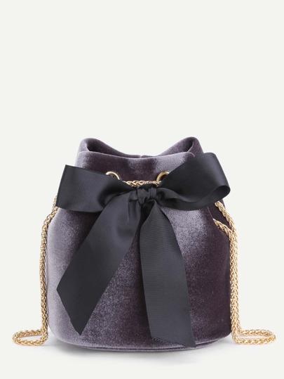 Модная бархатная сумка с бантом