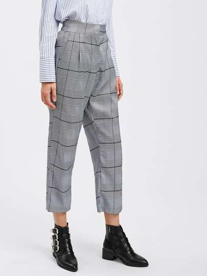 Tartan Plaid Straight Pants