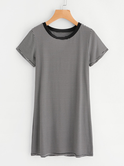 Striped Ringer Tee Dress