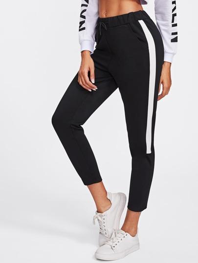 Contrast Side Panel Track Pants