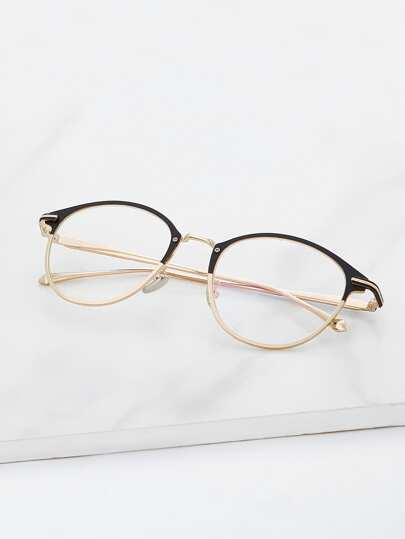 Two Tone Frame Glasses