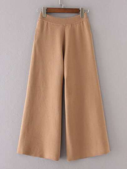 Wide Leg Knitted Pants