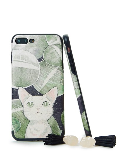 Funda de Iphone con estampado de gato
