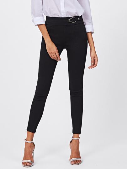 Metal Embellished Skinny Ankle Jeans