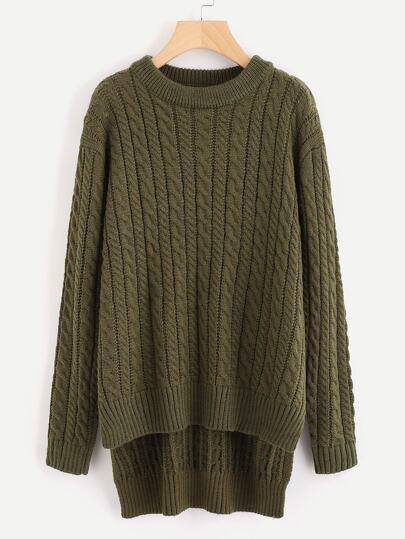 Maglione in cavo a maglia