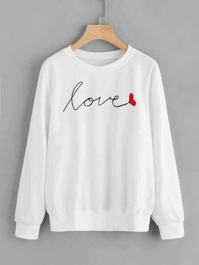 Sweatshirt mit Buchstaben