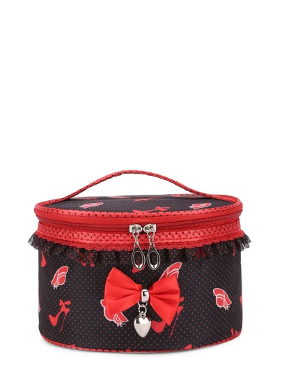 Trousse con bordi in pizzo