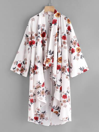 Kimono imprimé botanique