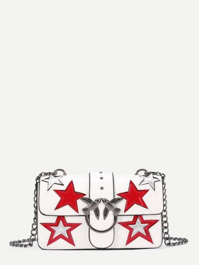 Bolso de pu con estrella y hebilla