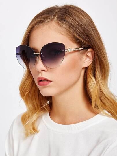 Gafas de sol estilo ojo de gato con lentes de espejo