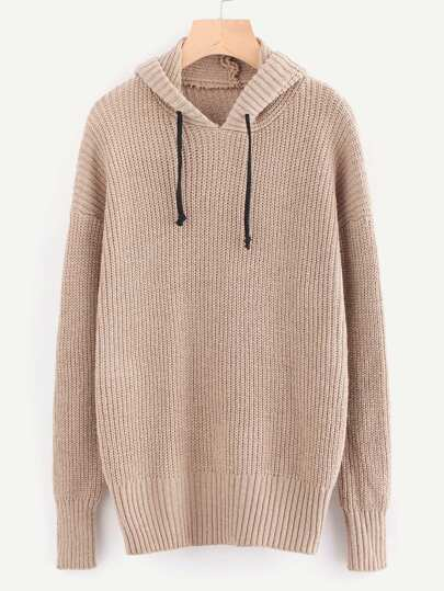 Drop Shoulder Hooded Jumper