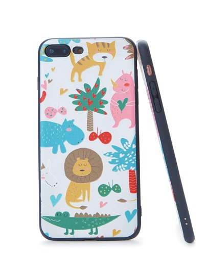 Animal Cartoon Print iPhone Case