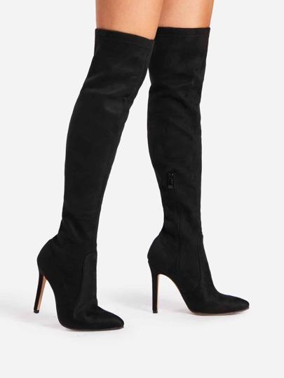 Over Knee Spitze Stiefel mit hohem Absatz
