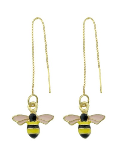 Temperament Bee Pendant Earrings