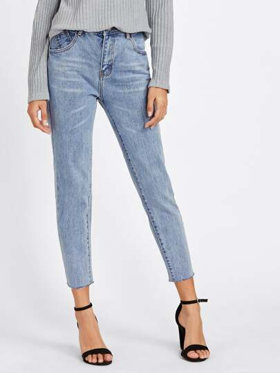 Back Thigh Rip Jeans