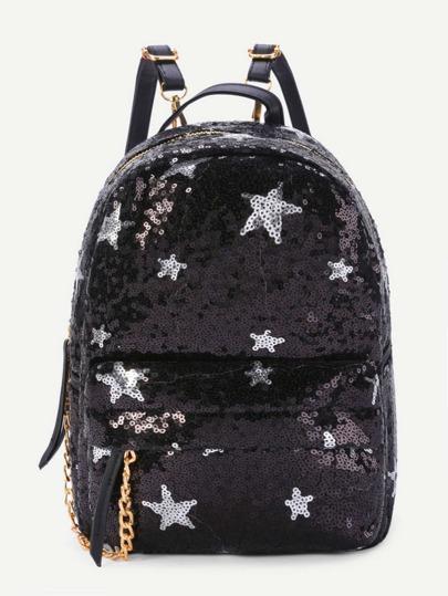 Rucksack mit Sternmuster und Pailettenbedeckung