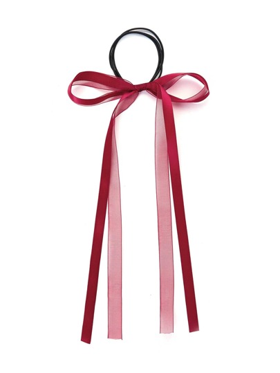 Модная резинка для волос с бантом