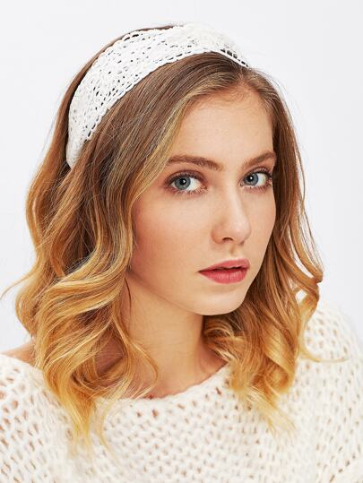 Lace Crochet Twist Headband