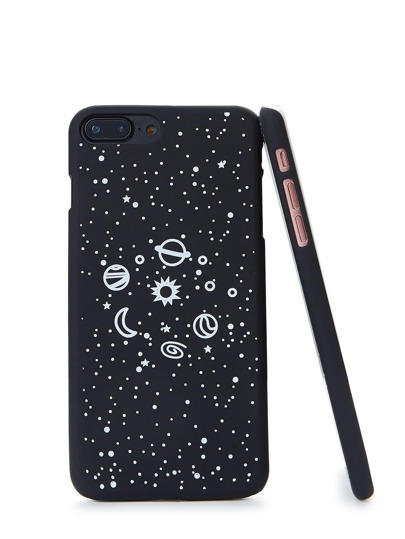 Funda de Iphone con estampado de galaxia