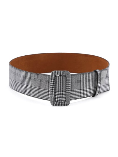 Square Buckle Plaid Belt