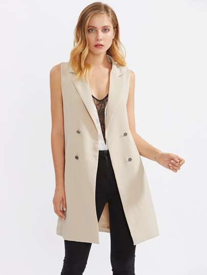 Shawl Lapel Button Front Blazer