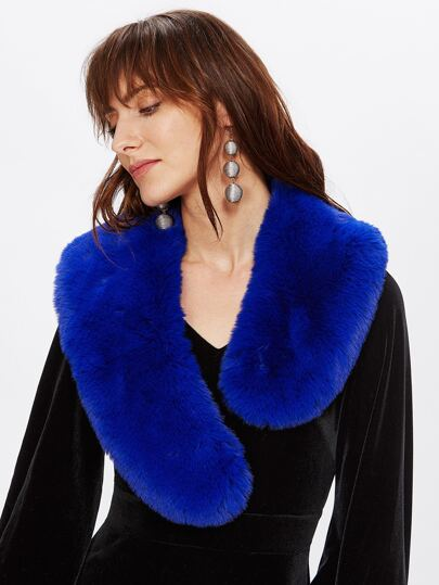 Faux Fur Wrap-around Tippet Scarf