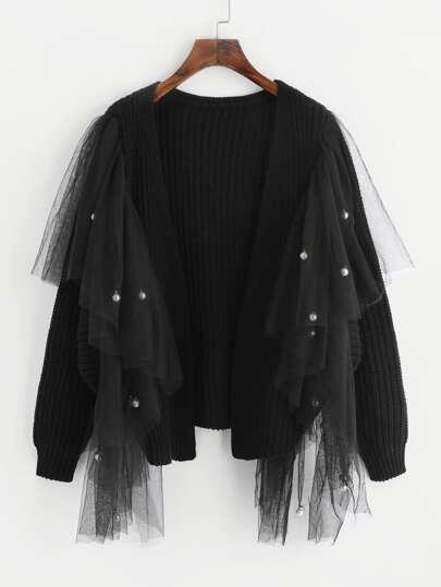 Maglione con perle sintetiche