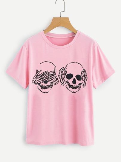 Camiseta con cráneo