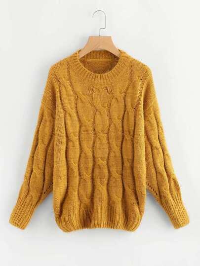 Maglione in maglia a cavo