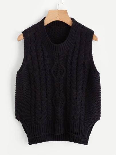 Gilet tricoté divisé côté