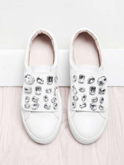 Chaussures de sport détail de strass