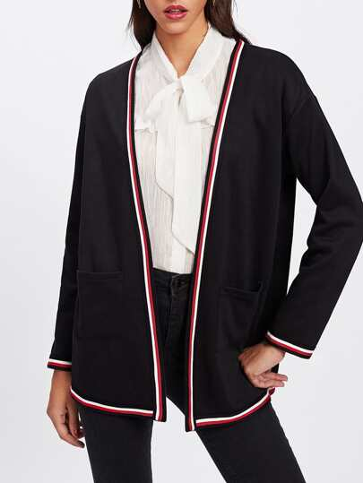 Cappotto con bordi a strisce